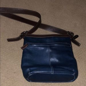Tignanello Blue Leather bag